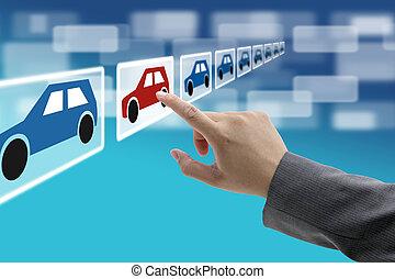 kereskedelem, kiállítási terem, elektronikus, autó