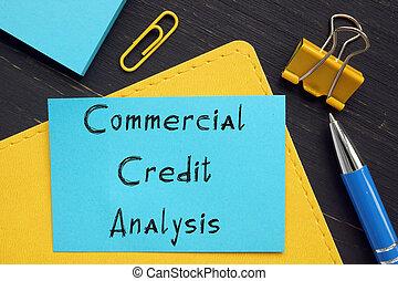 kereskedelmi, fogalmi, kézírásos, hitel, körülbelül, analízis, phrase., fénykép