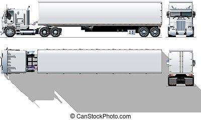 kereskedelmi, semi-truck