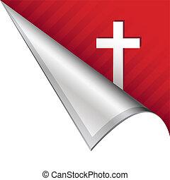 keresztény, akasztó, sarok, kereszt
