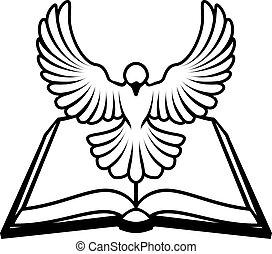 keresztény, fogalom, galamb, biblia