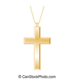 keresztény, gold nyaklánc, kereszt