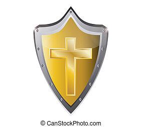 keresztény, jámbor, jelkép, kereszt