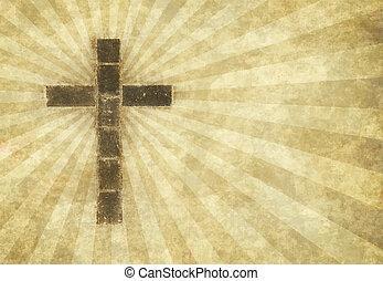keresztény, kereszt, pergament