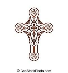 keresztény, kereszt, választékos
