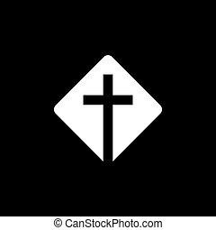 kereszténység, jelkép, cégtábla, ikonok, vallásos, vektor, templom