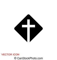 kereszténység, vallásos, templom, ikonok, vektor, cégtábla, jelkép