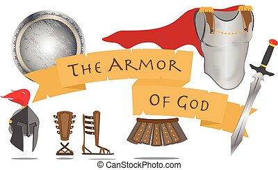 kereszténység, vektor, isten, aláír, harcos, krisztus, lélek, ábra, felfegyverez, jézus