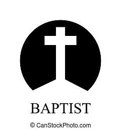 kereszt, baptista, jel