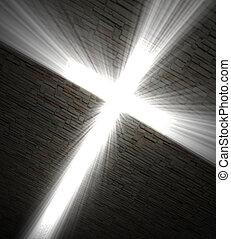 kereszt, keresztény, fény