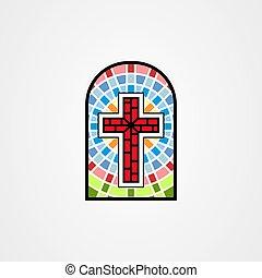kereszt, keresztény, foltos szemüveg, ábra, mód