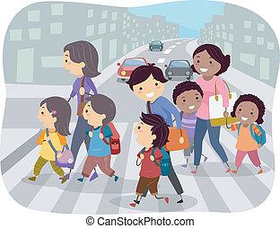 kereszteződnek utca