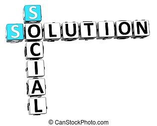 keresztrejtvény, 3, oldás, társadalmi