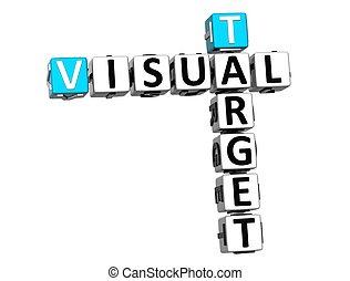 keresztrejtvény, látási, céltábla, 3