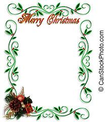 keret, határ, karácsony