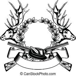 keret, kalap, vadászat
