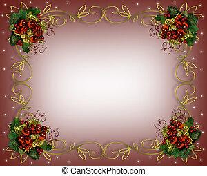 keret, karácsony, határ, finom