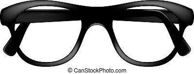 keret, retro, szemüveg