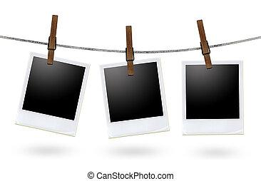 keret, ruhaszárító kötél, tiszta, fénykép