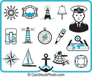 keret, tengeri, ikonok