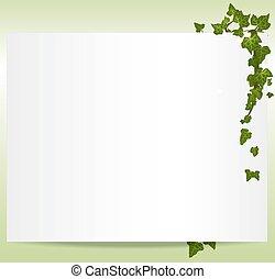 keret, vektor, spring/summer, zöld, repkény