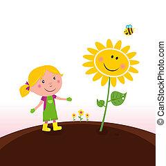 kertész, kertészkedés, gyermek, eredet, :