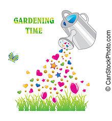 kertészkedés, idő