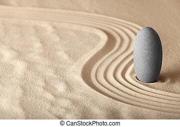 kert, forma, zen, pihenés, symplicity, egészség, összhang, háttér, elmélkedés, egyensúly
