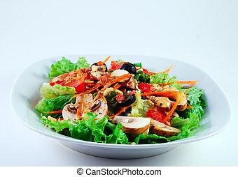 kert, hányódás, saláta
