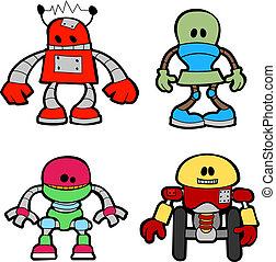 kevés, ábra, robotok