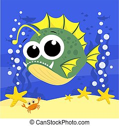 kevés, anglerfish.eps, csinos
