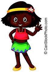 kevés, black lány, bőr