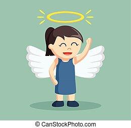kevés, dicsfénnyel övezni, leány, angel szárny