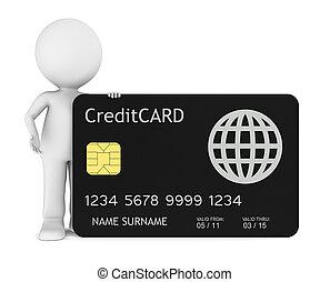 kevés, emberi, hitel, birtok, kártya, 3