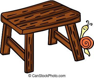 kevés, erdő, csiga, bírói szék