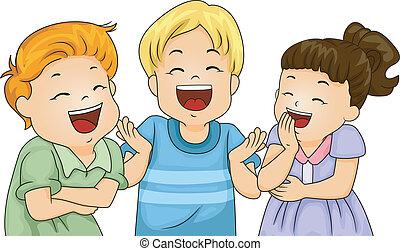 kevés, gyerekek, nevető