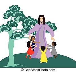 kevés, gyerekek, szeret, jézus
