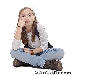 ülés fehér lány)