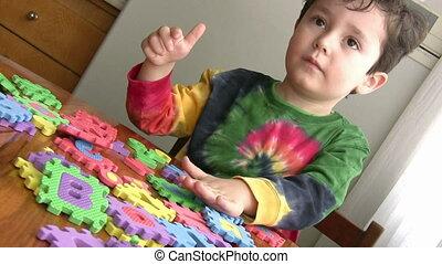 kevés, játék, fiú, játékszer, nevelési