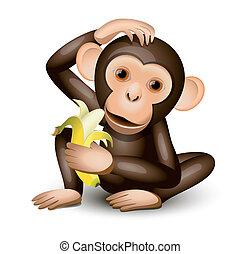 kevés, majom