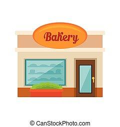 kevés, pékség, bolt