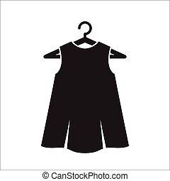 kevés, ruha, vállfa, fekete