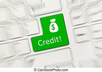 key)., -, gyertya, hatás, hitel, billentyűzet, fogalmi, fehér, (green
