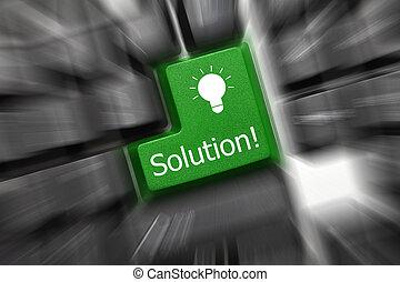 key)., -, oldás, gyertya, billentyűzet, fogalmi, hatás, (green