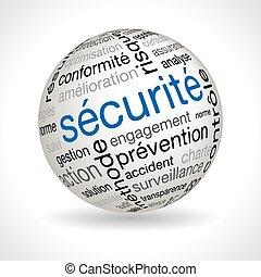 keywords, gömb, biztonság, francia