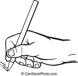 kezezés írás