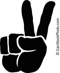 kezezés cégtábla, béke