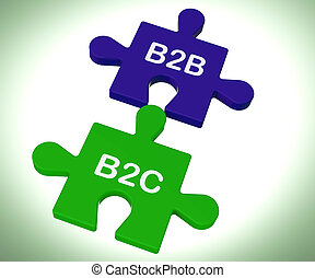 kiállítás, b2c, rejtvény, társas viszony, összeköttetés, b2b, egyesített, fogyasztó, vagy