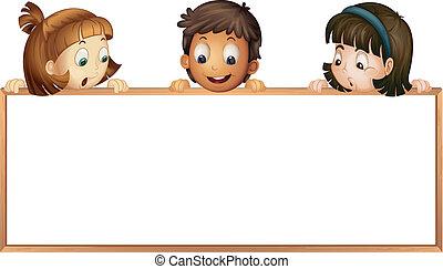 kiállítás, gyerekek, bizottság