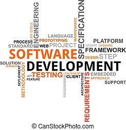 kialakulás, szó, -, felhő, szoftver
